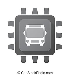Isolated chip with  a bus icon
