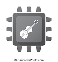 Isolated chip with a violin