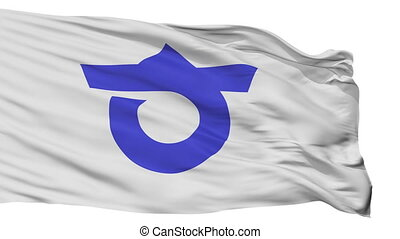 Isolated Chita city flag, prefecture (Aichi), Japan - Chita...