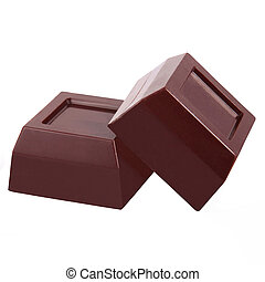 isolated chocolate in white background