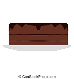 Isolated chocolate pie on a white background