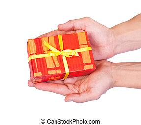Isolated christmas gift on white background - Photo of...