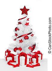 Isolated Christmas tree