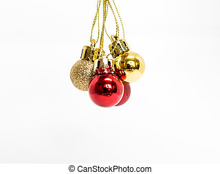 Isolated - Christmas Tree decoration on white background