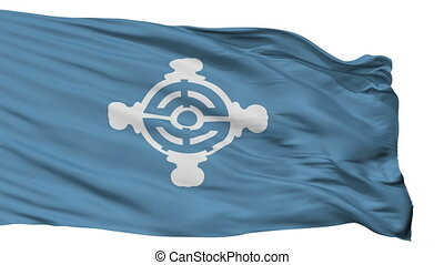 Isolated Chuo city flag, prefecture Tokyo, Japan - Chuo...