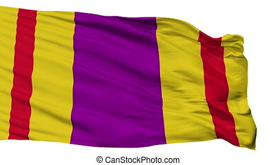 Isolated Ciales city flag, Puerto Rico - Ciales flag, city...