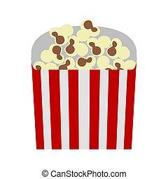Isolated cinema popcorn on a white background