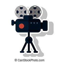 Isolated cinema videocamera design - Cinema videocamera...
