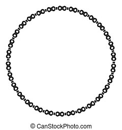 Isolated circle with machine parts design