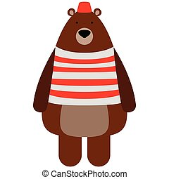 Isolated circus bear