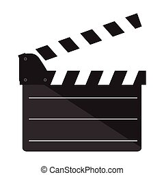 Isolated clapperboard icon