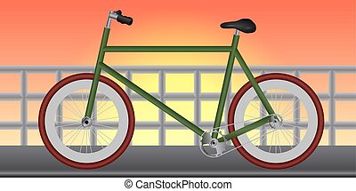 Isolated classic bicycle