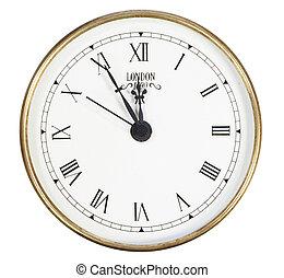 isolated classic clock