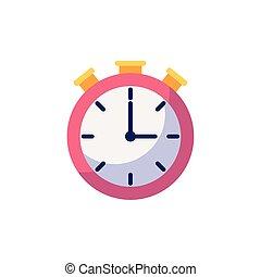 Isolated clock icon flat design