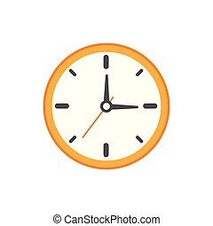 Isolated clock icon flat vector design