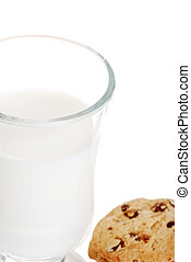 closeup glass of milk