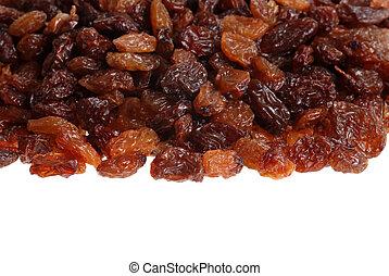 closeup of raisins