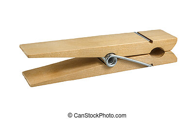 Isolated Clothes Peg - An Isolated Vintage Style Wooden...