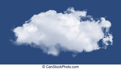Isolated cloud over black. Design elements