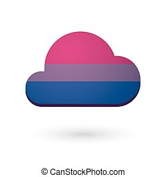cloud with a bisexual pride flag