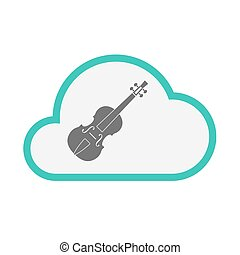 Isolated cloud with a violin