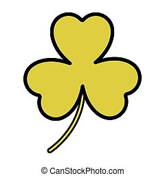 Isolated clover design