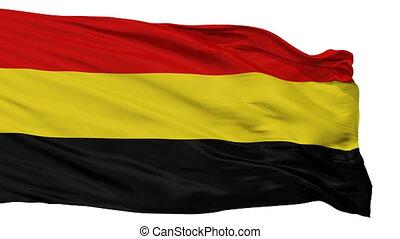 Isolated Coamo city flag, Puerto Rico - Coamo flag, city of...