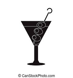 Isolated cocktail silhouette - Cocktail silhouette isolated...