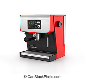 Isolated coffe maker on a white background. 3d illustration