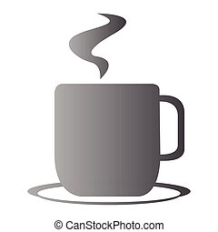 Isolated coffee cup