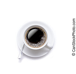 Isolated coffee cup on the white background