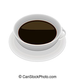 Isolated coffee cup on white background