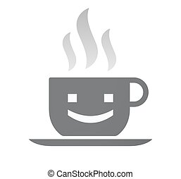 Isolated coffee cup with a smile text face