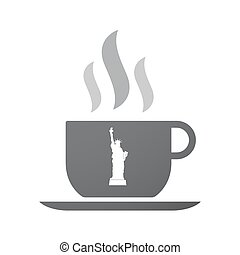 Isolated coffee mug with  the Statue of Liberty