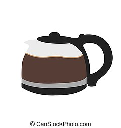 Isolated coffee pot on a white background, Vector illustration