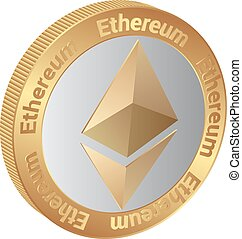 Ethereum - isolated coin of cryptocurrency Ethereum