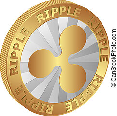 isolated coin of Ripple