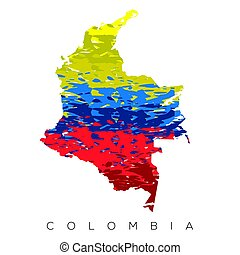 Isolated Colombian map