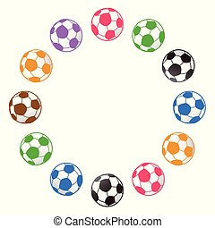soccer ball around with copy space