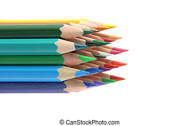 isolated color pencils