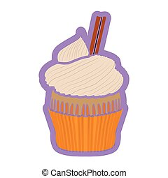 Isolated colored cupcake icon