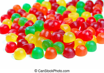 Colorful Candy - isolated Colorful Candy on a white ...