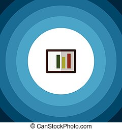 Isolated Column Chart Flat Icon. Diagram Vector Element Can Be Used For Diagram, Column, Chart Design Concept.
