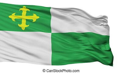Isolated Comerio city flag, Puerto Rico - Comerio flag, city...