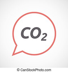 Isolated comic balloon icon with    the text CO2