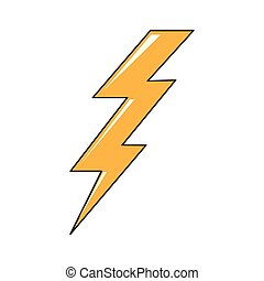 Isolated comic thunder icon