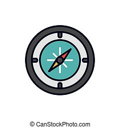 Isolated compass icon fill vector design