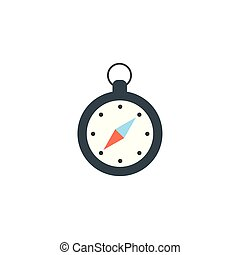 Isolated compass icon flat design