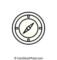 Isolated compass icon line vector design