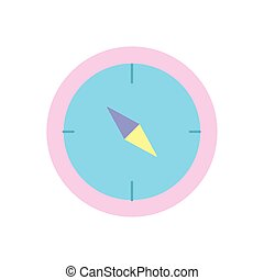 Isolated compass icon vector design
